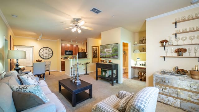 Living room at Integra Woods in Palm Coast, Florida