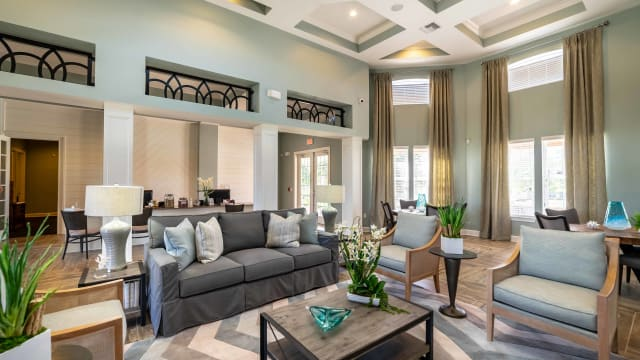 Gorgeous living room at Integra Woods in Palm Coast, Florida
