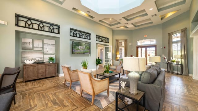 Beautiful living room at Integra Woods in Palm Coast, Florida