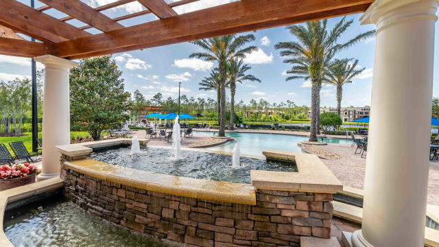 Swimming pool view at Integra Woods in Palm Coast, Florida