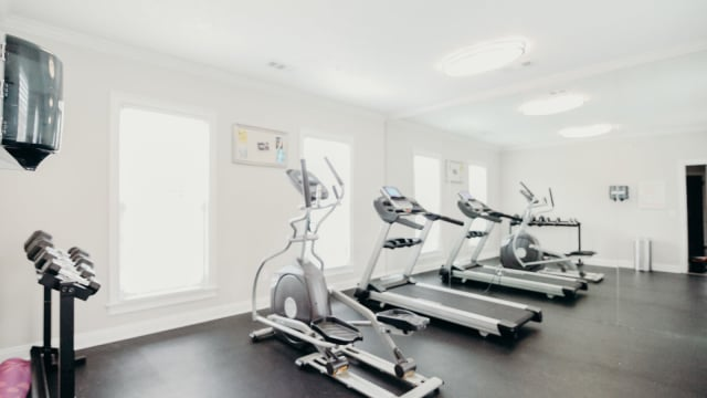 Gym at Halcyon Park Apartments in Montgomery, Alabama