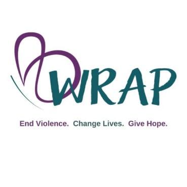 WRAP (Wo/Men's Resource and Rape Assistance Program) logo