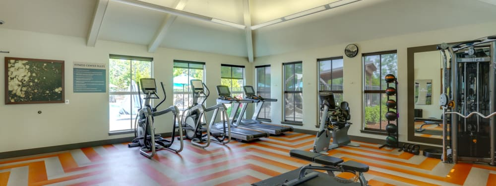 The 24-hour fitness center at Terrene at the Grove in Wilsonville, Oregon