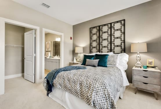 Bright master bedroom at Steele Creek in Jacksonville, Florida