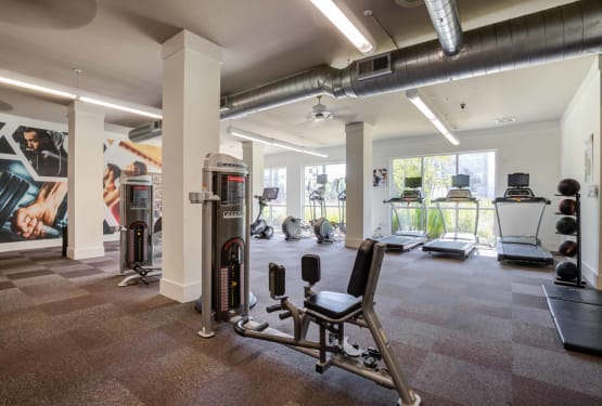 Workout facility at Celsius in Charlotte, North Carolina