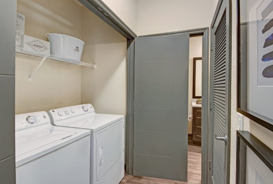 Laundry room at The Courtney at Lake Shadow in Orlando, Florida