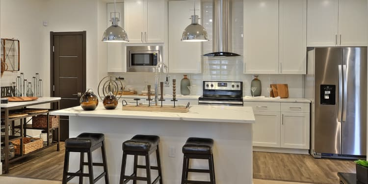 Sleek, modern kitchen at The Aviator in Henderson, Nevada