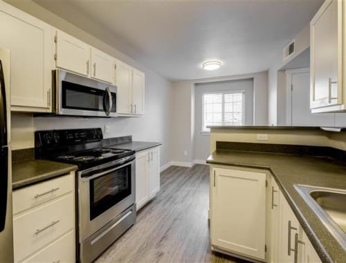 Updated and modern kitchen amenities at Northwind Apartments in Reno, Nevada