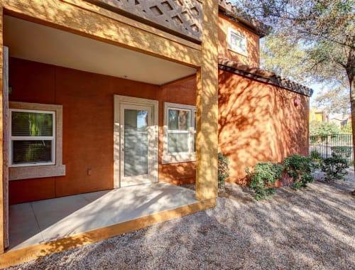 Covered back porch at Tierra Pointe in Casa Grande, Arizona