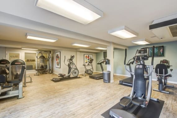 Spacious fitness center at Alura in Woodland Hills, CA
