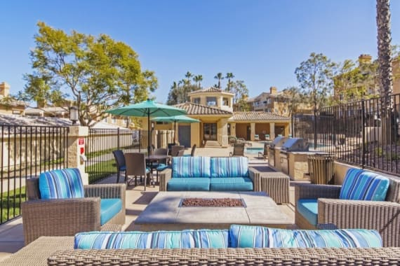 Beautiful bbq area at Sofi Canyon Hills in San Diego, CA