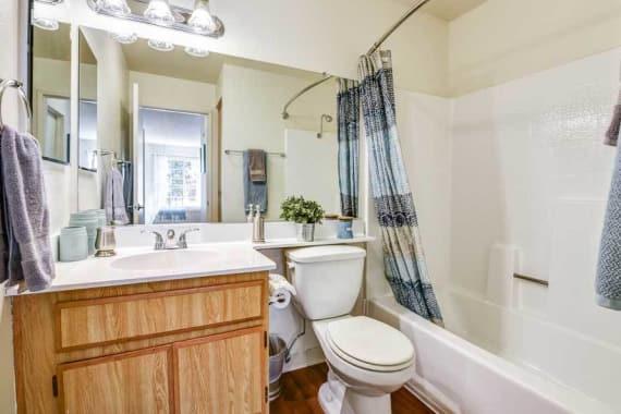 Luxury bathroom at Waterstone Media Center in Burbank, CA