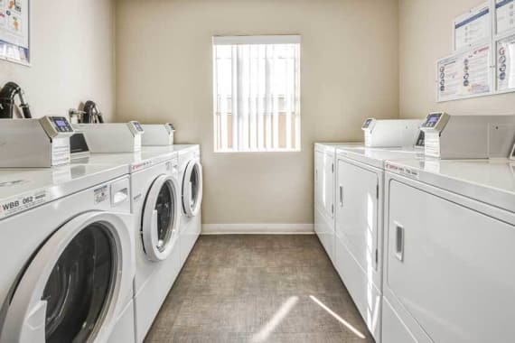 Laundry facility at apartments in Burbank, CA