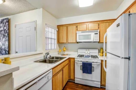 Beautiful kitchen at apartments in Burbank, CA