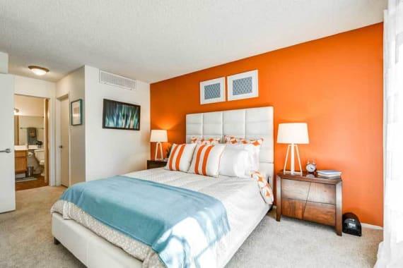 Beautiful bedroom at apartments in Burbank, CA