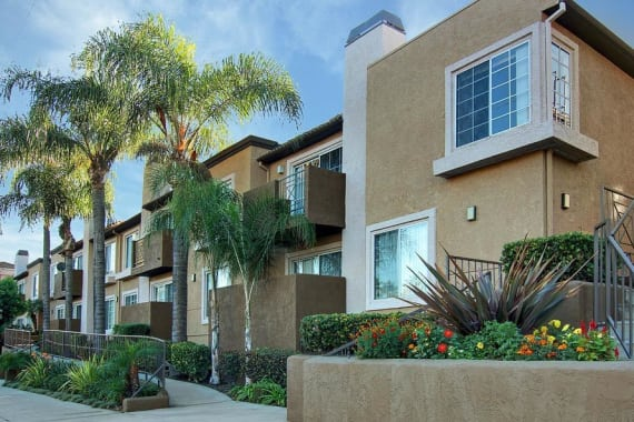 Exterior for sunny apartments at Waterstone Media Center in Burbank, CA