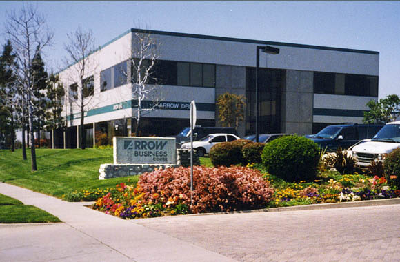 Well-manicured grounds at Arrow Business Center in Rancho Cucamonga, California