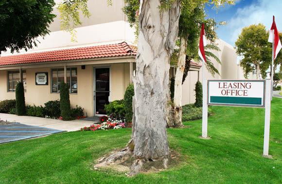 Leasing office at Fullerton Business Center in Fullerton, California