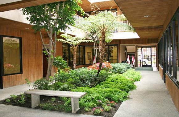 Courtyard at La Mirada Center in La Mirada, California