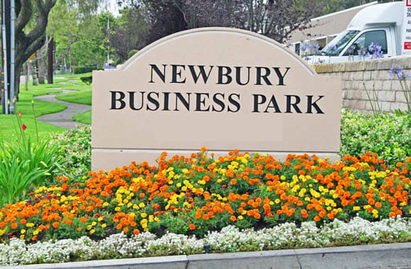 Monument sign at Newbury Business Park in Newbury Park, California