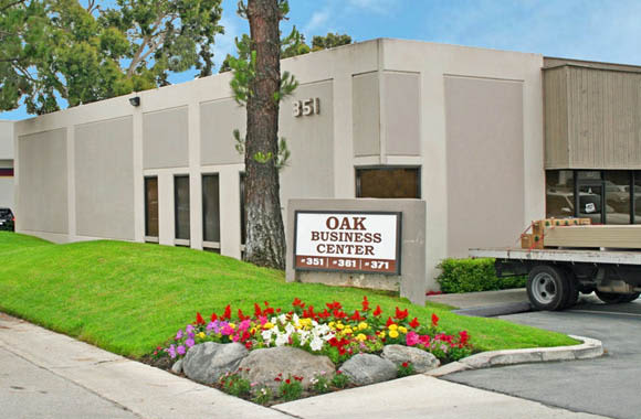 Entrance at Oak Business Center in Brea, California