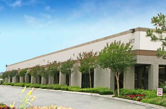 Tree-lined building at San Dimas Business Center in San Dimas, California