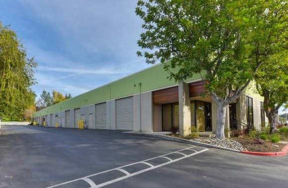 Warehouse doors at Westlake Village Industrial Park in Westlake Village, California