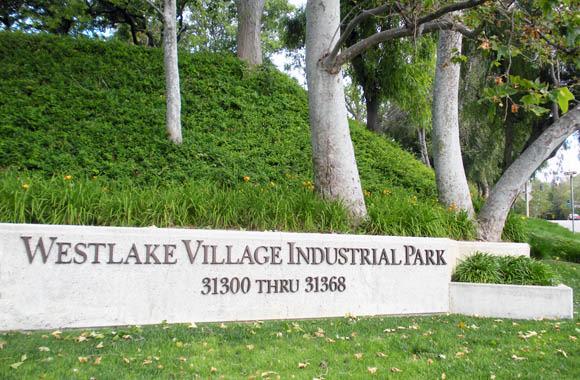 Monument sign at Westlake Village Industrial Park in Westlake Village, California