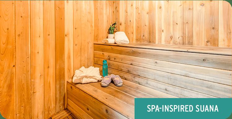 Spa-inspired sauna at Rancho Los Feliz in Los Angeles, California