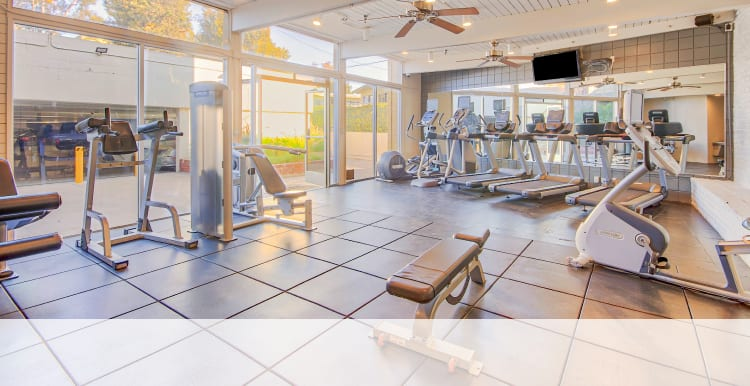 24-hour fitness center at Villa Vicente in Los Angeles, California
