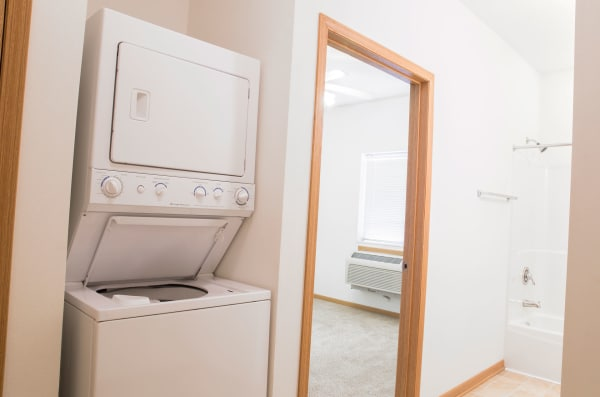 Apartment washer and dryer at Westwood Village in Ames, Iowa