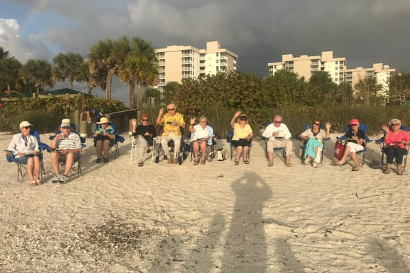 Beach party for residents near All Seasons Naples in Naples, Florida