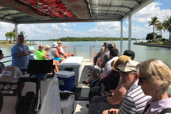 What a beautiful day to be on a dolphin tour for residents at All Seasons Naples in Naples, Florida