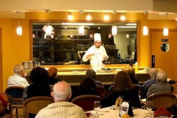 Culinary Demonstration with Chef Elijah; Frangelico Beef Tournedos