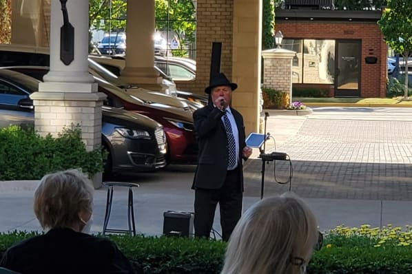 Outdoor Courtyard Performance with Billy McAllister