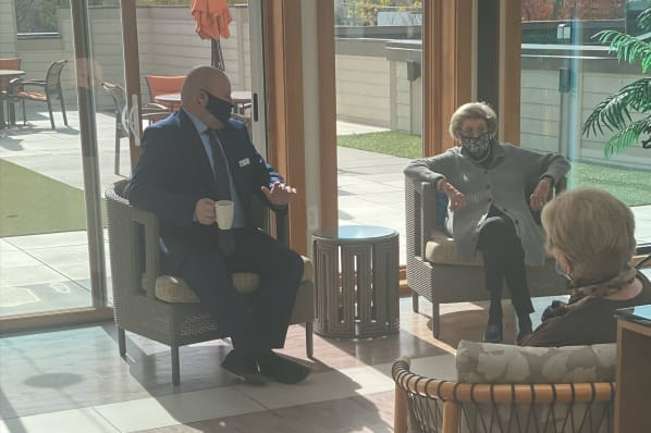 Coffee with the Executive Director in the Conservatory