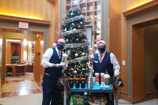 Residents Enjoyed a Holiday Drink Delivered to Their Door