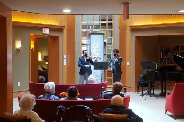 Dueling Violin Concert In the Grand Living Room