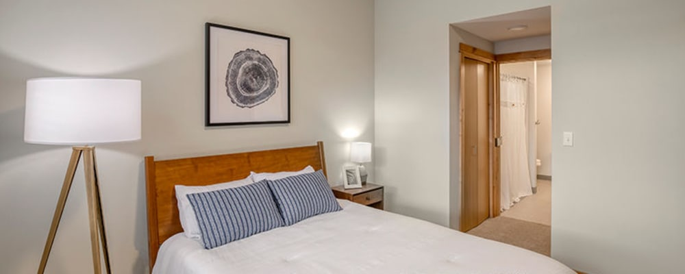 Cozy and well lit bedroom at The Springs at Sherwood in Sherwood, Oregon