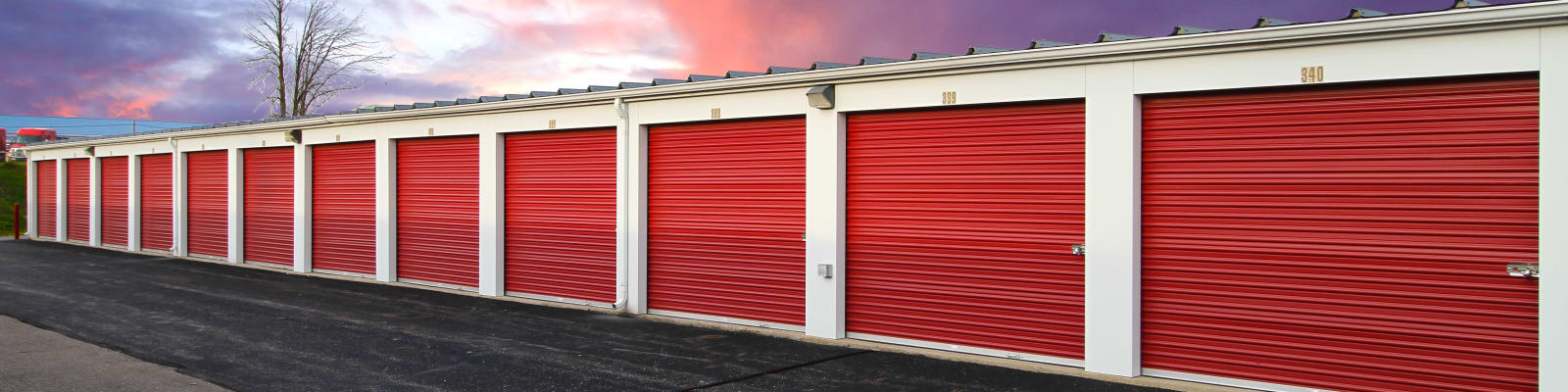 Storage units at West Dickman Road Self Storage in Springfield, MI