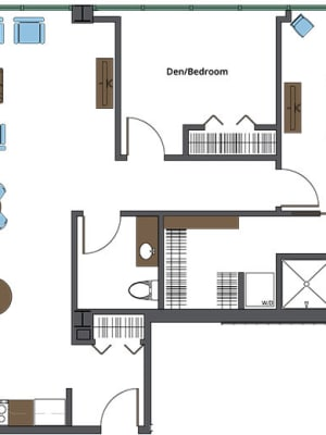 View our St. Louis independent living floor plan