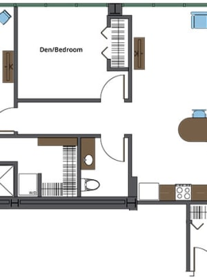 View our St. Catherine independent living floor plan