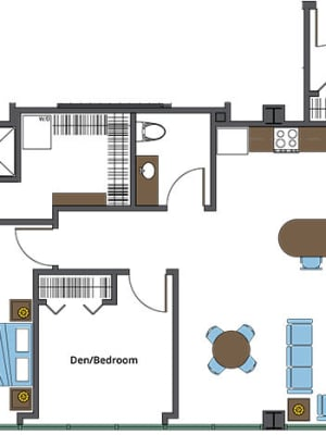 View our St. Therese independent living floor plan