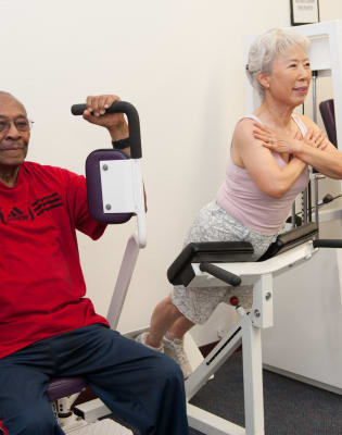 Rehabilitation gym at Westmont Village in Riverside, California