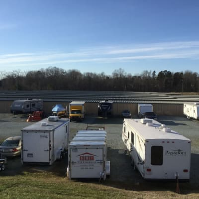 Climate Controlled Exterior Storage Units at Cardinal Self Storage - Graham in Graham, North Carolina
