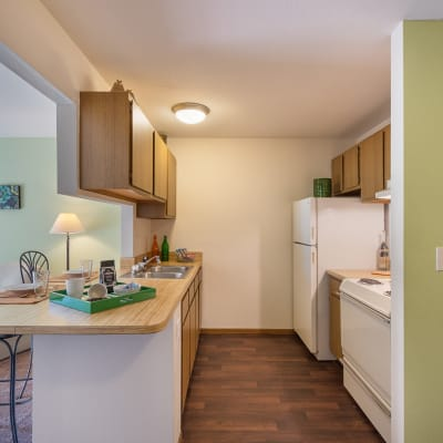 View the features and amenities at Kellogg Cove Apartments in Kentwood, Michigan