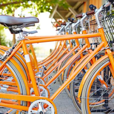 Bike share station near Sofi Belmont Hills in Belmont, California