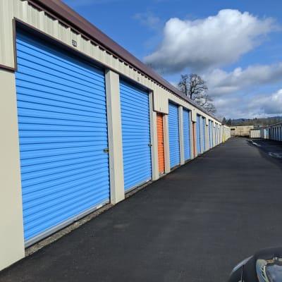 Outdoor storage units at Battle Ground Mini Storage in Battle Ground, Washington