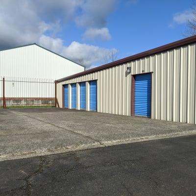 Exterior storage units at Battle Ground Mini Storage in Battle Ground, Washington