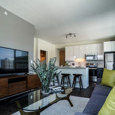 Bright, spacious floor plan at Two Twelve Clayton in Clayton, Missouri